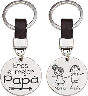 Llavero Redondo Eres el mejor Papa Regalo Hombre Personalizado con Nombres Día del Padre