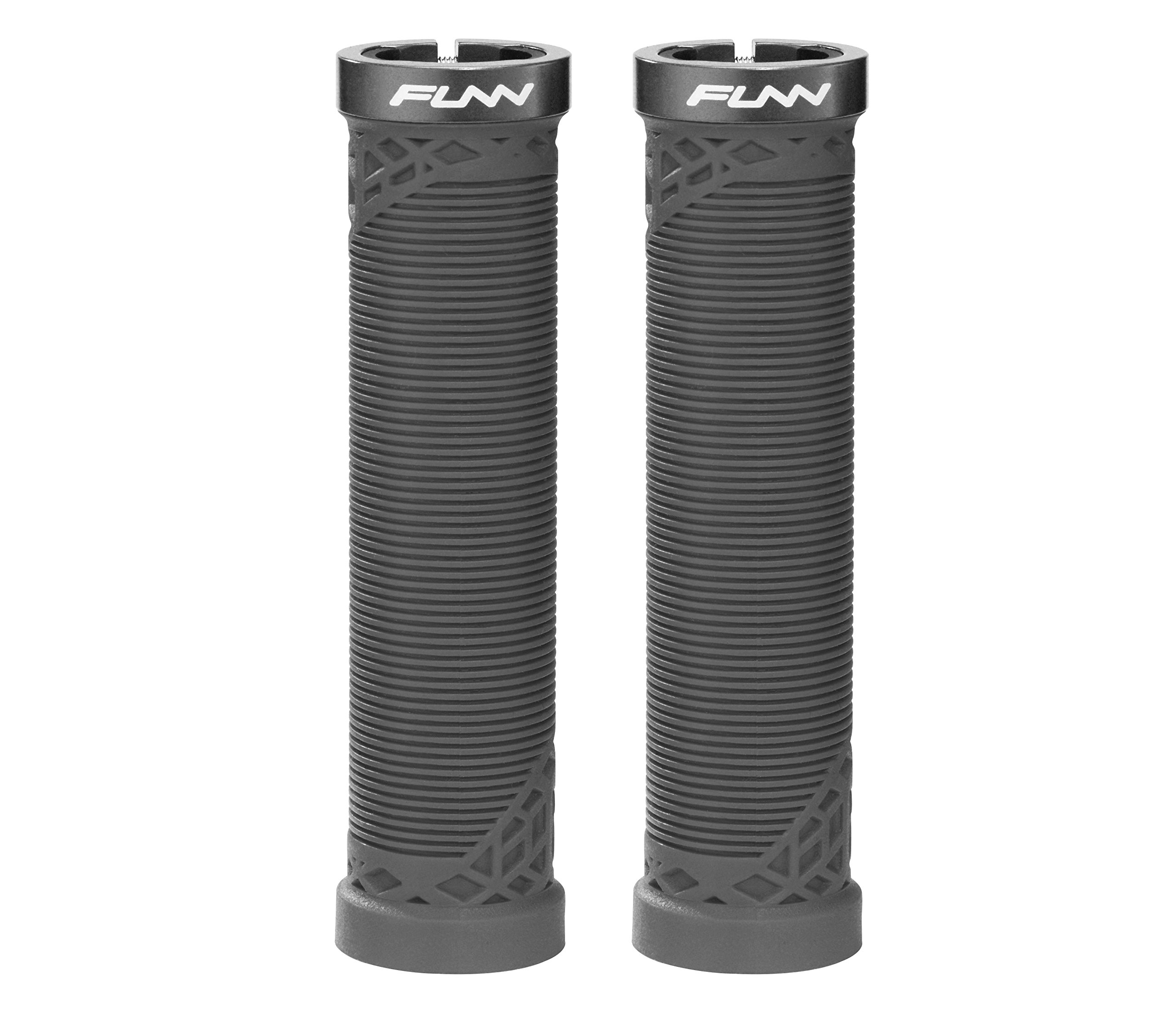Funn Hilt Mountain Bike Handlebar Grips with Single Lock-on Clamp, Lightweight and Ergonomic Grips for MTB (Black)
