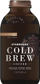 Starbucks Cold Brew Black Coffee, Cocoa & Honey w/Cream, 11oz Glass Bottle