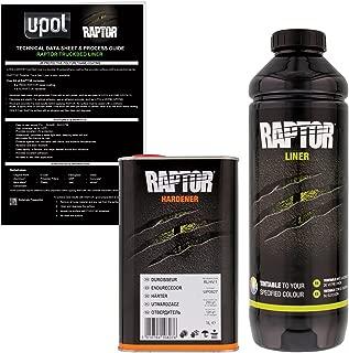 U-Pol Raptor Tintable Urethane Spray-On Truck Bed Liner & Texture Coating, 1 Liter