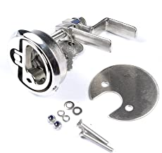 Mxeol Marine Cam Latch Stainless Steel Boat Hatch Lift Handle with Fasteners