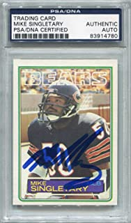 Mike Singletary Rookie Chicago Bears PSA/DNA Certified Authentic Autograph - 1983 Topps (Autographed Football Cards)