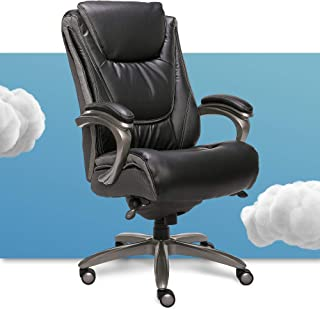 Serta Big and Tall Smart Executive Office ComfortCoils, Ergonomic Computer Chair with Layered Body Pillows, Big & Tall, Bl...