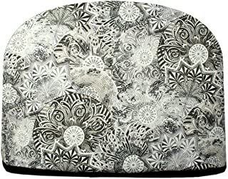 Blue Moon Black & White Medallions Tea Cosy Double Insulated Teapot Tea Cozy Keeps Tea Warm for Hours - Ships The Same Business Day, Order by 10:00 AM Pacific Time