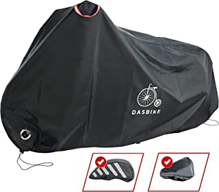 featured product Bike Cover Waterproof Outdoor Storage Bicycle Cover Anti-UV Heavy Duty Ripstop Protection Against Sun, Rain, Snow and Dust. Helmet and Seat Covers Included. Protect up to 2 Bikes in XL