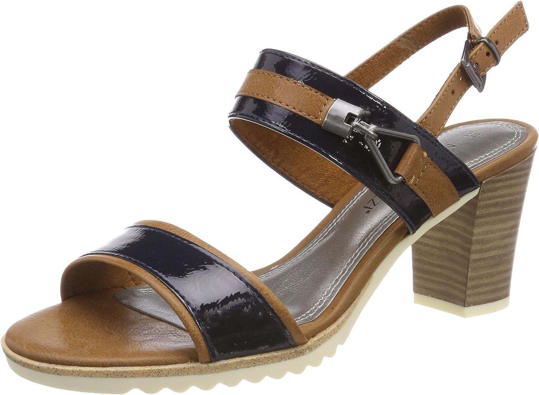 Marco Tozzi Ola 28704 - Navy Pat Combi (Man-Made) Womens Sandals
