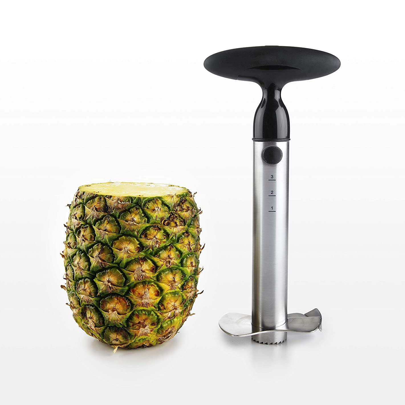 OXO Good Grips Stainless Steel Ratcheting Pineapple Slicer with Depth Guide