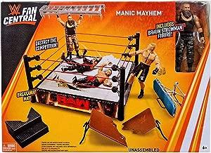 WWE Mattel Fan Central Manic Mayhem Playset with Ring Braun Strowman Figure