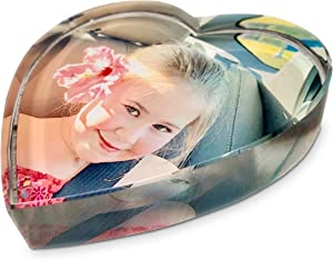 Personalized Photo Crystal Paperweight - Heart
