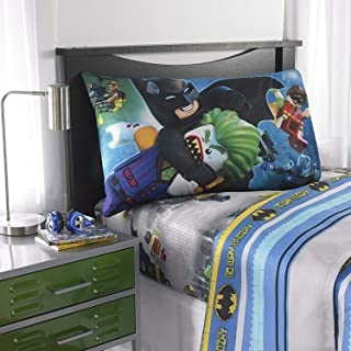 LEGO Batman Movie Microfiber Sheet Set with Pillow Case - Twin