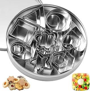 ZITFRI 24 Pcs Mini Emporte Piece Patisserie Jeu de Dinette pour Enfant Emporte-pièces Cuisine pour Minis Sablés Biscuits C...