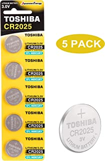 Toshiba CR2025 3V Lithium Coin Cell Battery Pack of 5