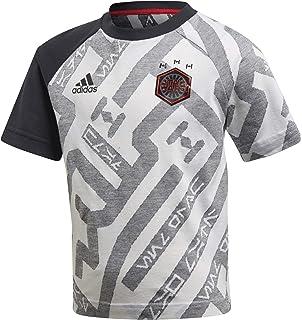 adidas LB Dy Sw tee 1-White/Black/Vivred Camisetas, Niños
