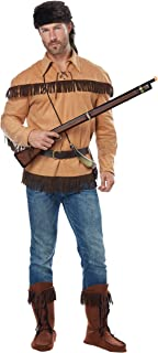 California Costumes Men's Frontier Man - Davy Crockett - Adult Costume Adult Costume, -Tan, Large