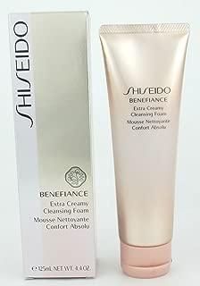 Shiseido Benefiance Extra Creamy Cleansing Foam, 4.4 Ounce