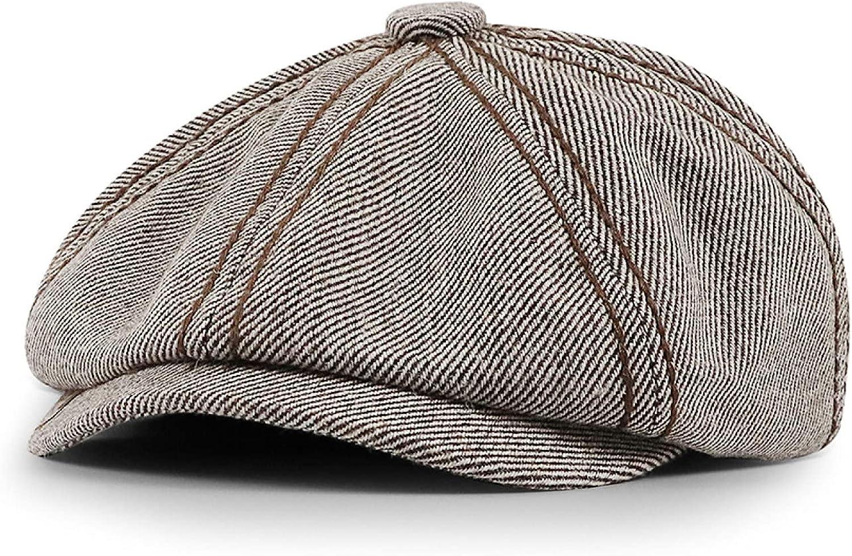 Unisex Woolen Octagonal Hat Men Autumn Winter Newsboy Cap Retro Gatsby Caps Women Casual All-Match Beret Hats