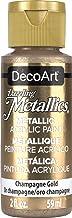 DecoArt Dazzling Metallics 2-Ounce Champagne Gold Acrylic Paint