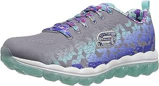 Skechers Kids Girls' Skech-Air-Fade N'Fly Sneaker,Gray/Multi,