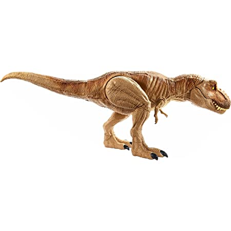 ジュラシック・ワールド スーパーアクション! T-レックス【サバイバル・キャンプ地図、恐竜ステッカー付】【全長:約55㎝】 GJT60