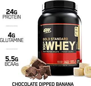 OPTIMUM NUTRITION Gold Standard 100% Whey Protein Powder, Chocolate Dipped Banana 2 Pound