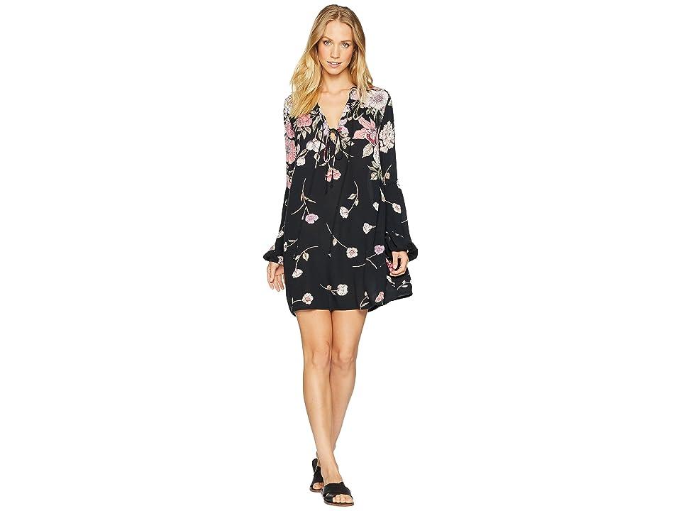Billabong Pretty Please Dress (Black Floral) Women