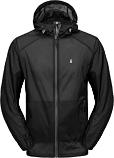 Little Donkey Andy Men's UPF 50 Sun Protection Jacket Packable Lightweight Full Zip Hoodie for Running Travel Outdoors