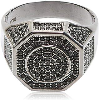 Atiq Mens 925 Sterling Silver Fashion Ring