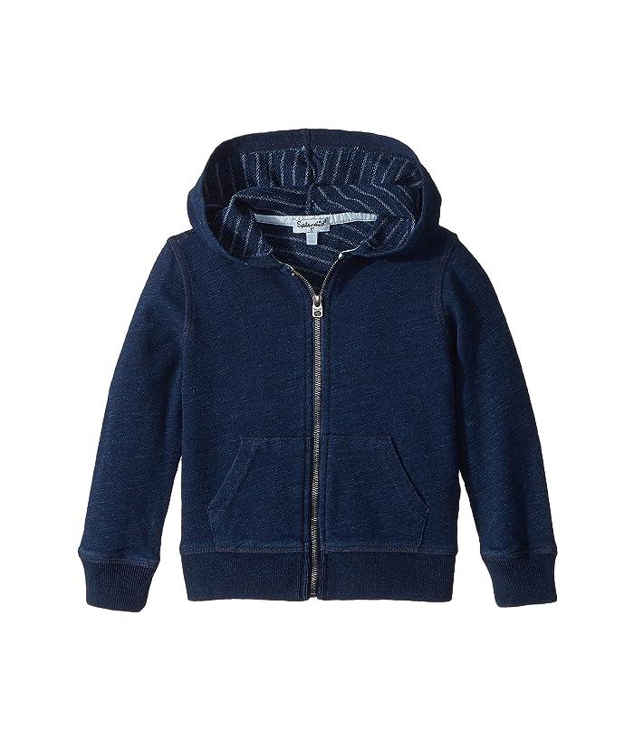 Splendid Littles  Always Baby French Terry Indigo Hoodie (Toddler/Little Kids) (Dark Stone Indigo) Boys Sweatshirt