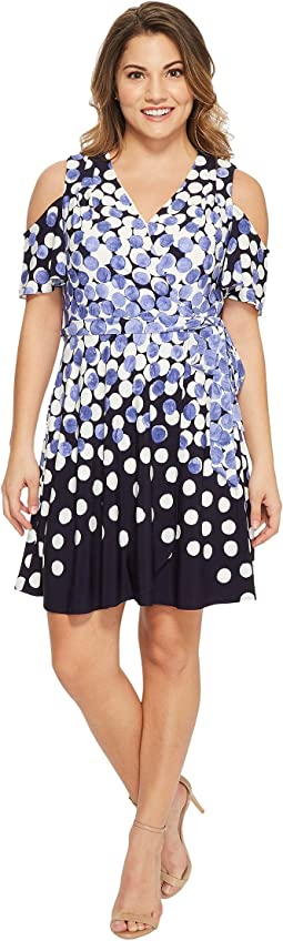 Tahari by ASL - Petite Jersey Dot Dress