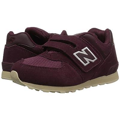 New Balance Kids KV574v1I (Infant/Toddler) (Burgundy/Tan) Girls Shoes