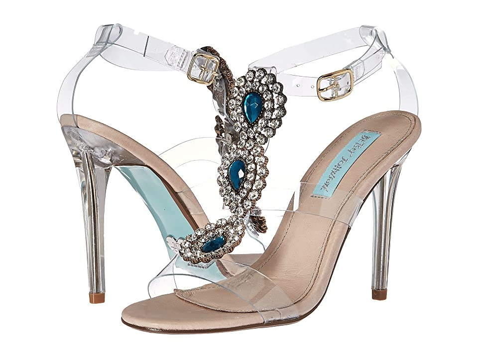 Blue by Betsey Johnson Sylvi (Clear) High Heels