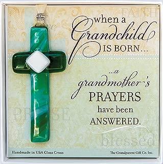The Grandparent Gift When a Grandchild is Born Glass Cross Grandma Keepsake Gift