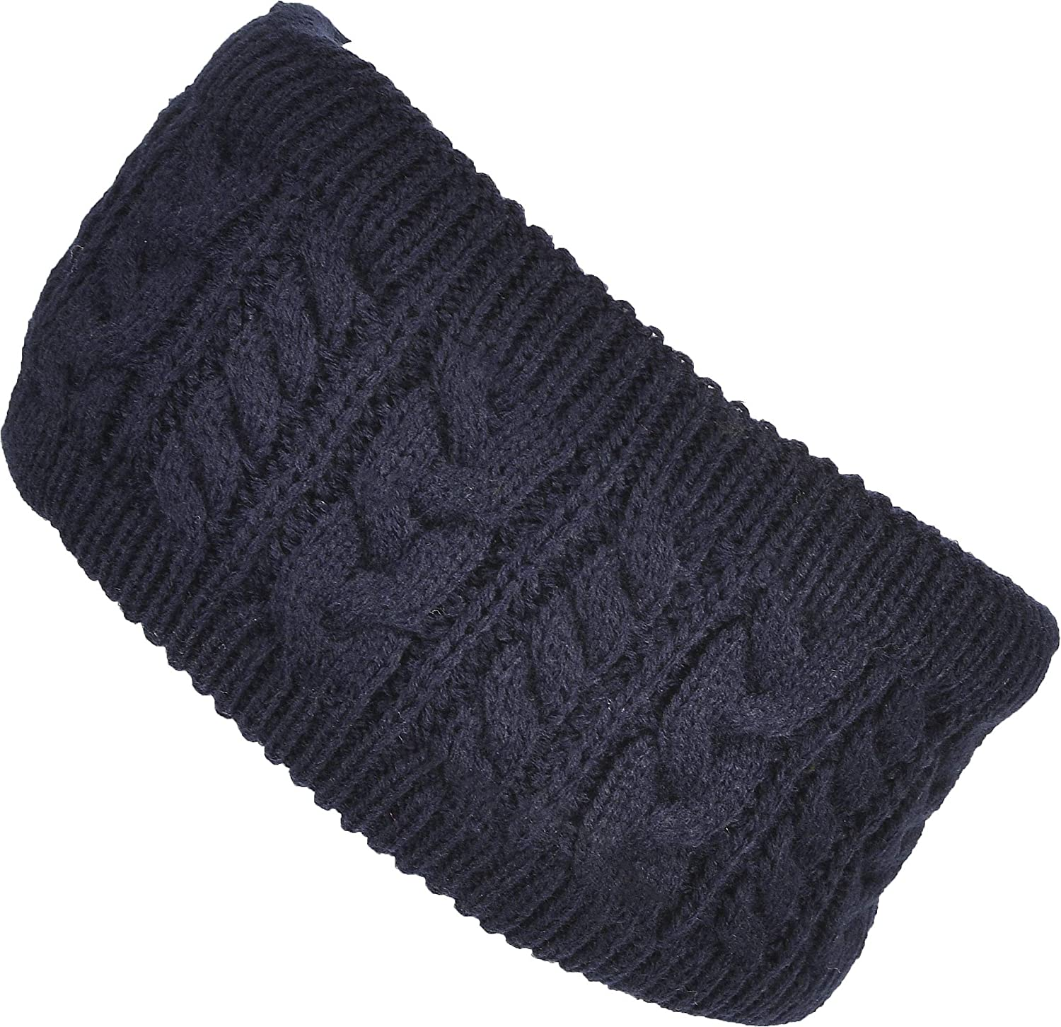Hand By Hand Cable Knit Headband Sherpa Lined Ear Warmer Winter Warm