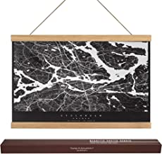 """Dacri Home 24"""" Wide Magnetic Poster Hanger Frame - 24x36 24x18 24x32 Easy Hanging – Large Compatibility Hanger for Wall Art Picture Canvas Print Map (24"""