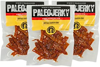Steve's PaleoGoods, PaleoJerky Buffalo Chicken, 2 oz (Pack of 3)