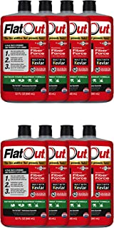 MULTI SEAL 20128 8-Pack FlatOut Tire Additive (Outdoor Power Equipment Formula), for Lawn Mowers, Small Tractors, Wheelbarrows, Woodchippers, Snow Blowers and more, 8 Pack