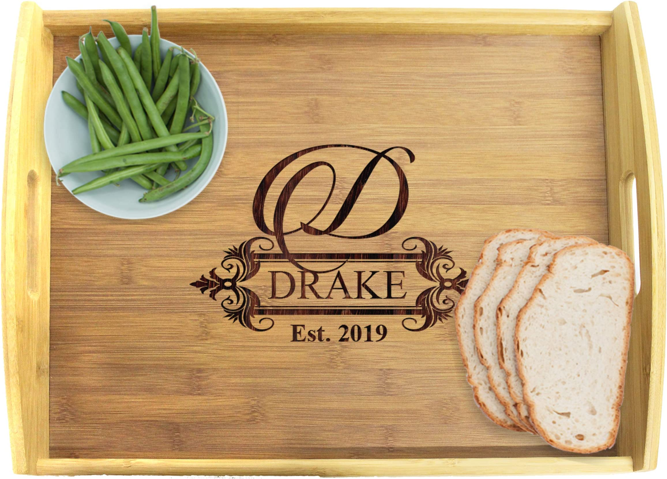 Personalized Handcrafted Solid Pine Wood Shiplap Decorative Tray
