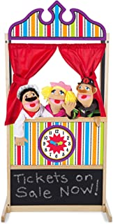 Melissa & Doug Deluxe Puppet Theater (Sturdy Non-Tip Base, Plush Curtains, 52 ″ H × 18″ W × 24.75″ L, Great Gift for Girls and Boys - Best for 3, 4, 5, 6 and 7 Year Olds)