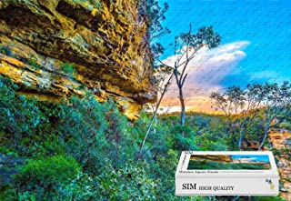 Premium Basswood Jigsaw with Glue - Australia Rocks Sky Clouds Sunset,20.6 X 15.1 inch - 300 Piece Jigsaw Puzzle