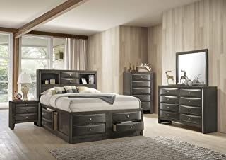 ACME Furniture Ireland Storage Bed, Eastern King, Gray Oak