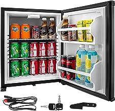 VBENLEM 1.4cu.ft 110V 12V Portable Refrigerator AC DC No Noise Compact Absorption Fridge 40L Black Mini Car Cooler with Lock Reversible Door for Apartment Hotel Hospital Camping Traveling Vehicle RV