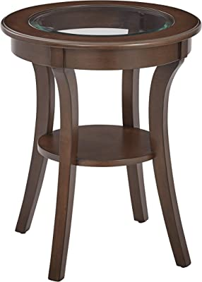c2b7d996bdc5 OSP Designs OP-HRAS1-YM7-osp Harper Round Accent Table with Glass Top