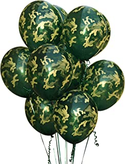 Camouflage Balloons. 24 per Pack. High Quality Latex 12 Inch Size. Perfect for Outdoors Themed, Hunting, or Military Celebration or Party.