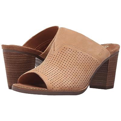 TOMS Majorca Mule Sandal (Sandstorm Nububk Perforated) Women