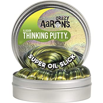 Crazy Aaron's Thinking Putty, 3.2 Ounce, Super Illusions Super Oil Slick