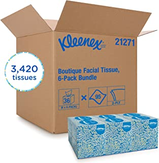 Kleenex Professional Facial Tissue Cube for Business (21271), Upright Face Tissue Box, 6 Bundles/Case, 6 Boxes/Bundle, Pack of 36 Boxes/Case