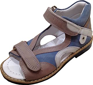596a4fc3ca PERLINA Boys Shoes Elazig 1604-1 Turkish Orthopedic Leather Summer Sandals  with Arch Support