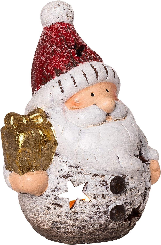Wichtelstube-Kollektion Portavelas navideño de cerámica con diseño de Papá Noel