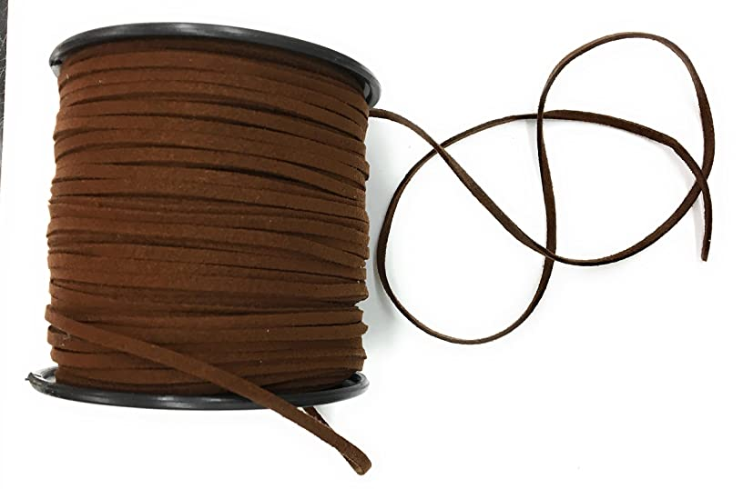100yds Brown Lace Beading Thread -Faux Suede Cord String -Leather Suede/Faux Suede Cord ,g with Roll -