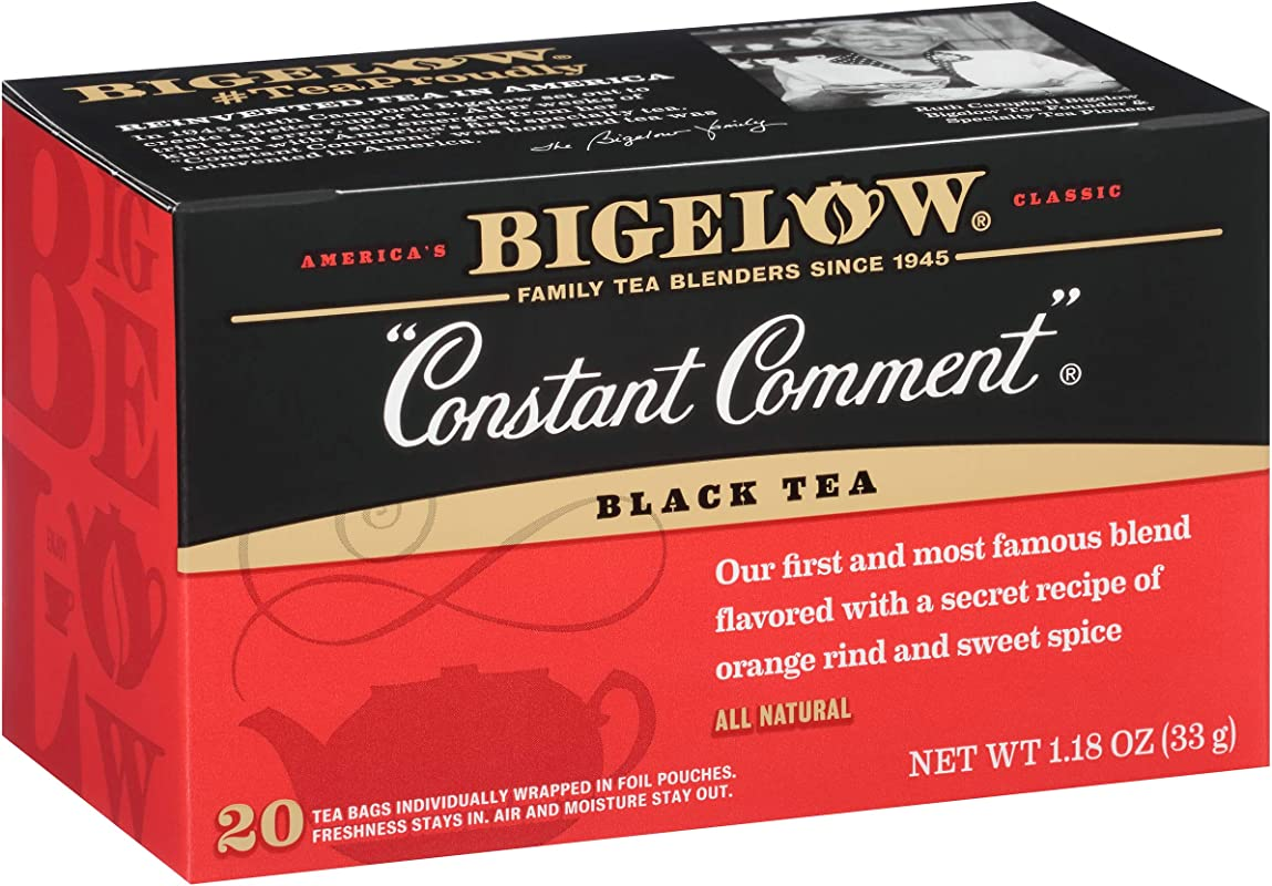 Bigelow Constant Comment Tea 20 Count Boxes Pack Of 6 120 Tea Bags Total Caffeinated Individual Black Tea Bags For Hot Tea Or Iced Tea Drink Plain Or Sweetened With Honey Or Sugar